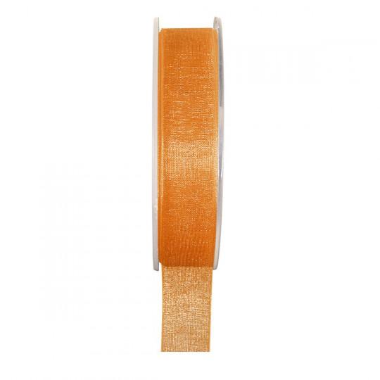 Ruban organza orange 20 mètres x 6mm