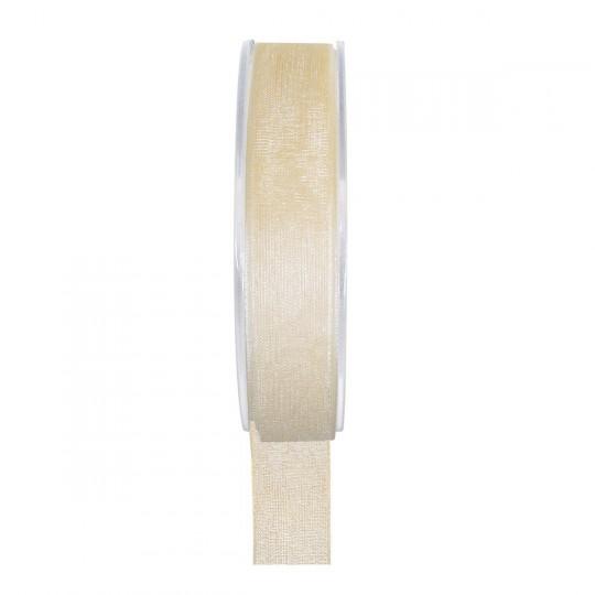 Ruban organza ivoire 20 mètres x 6mm