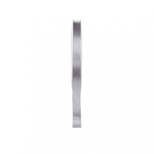 Ruban satin double face gris 25 mètres x 6mm