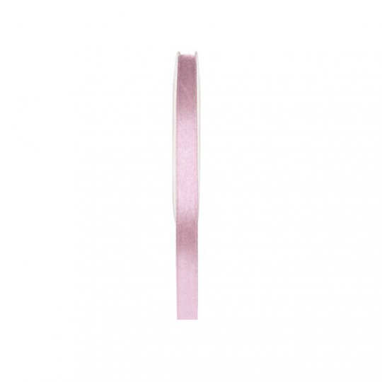 Ruban satin double face rose pâle 25 mètres x 6mm