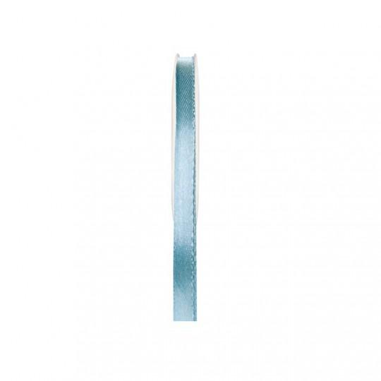 Ruban satin double face bleu ciel 25 mètres x 6mm