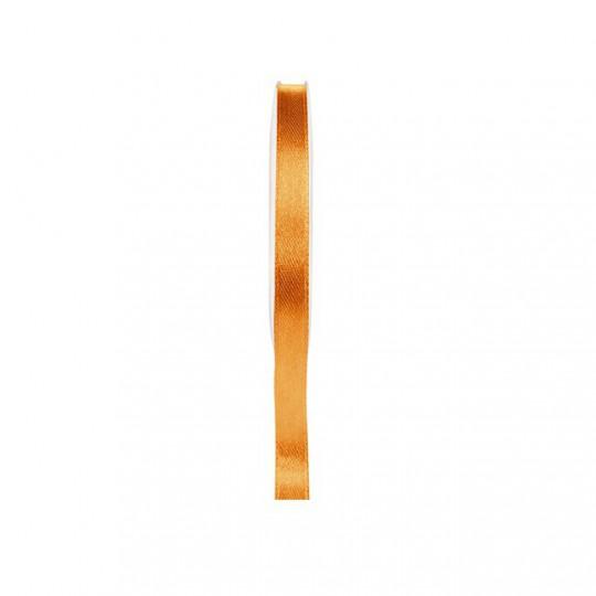 Ruban satin double face orange 25 mètres x 6mm