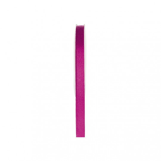 Ruban satin double face fuchsia 25 mètres x 6mm