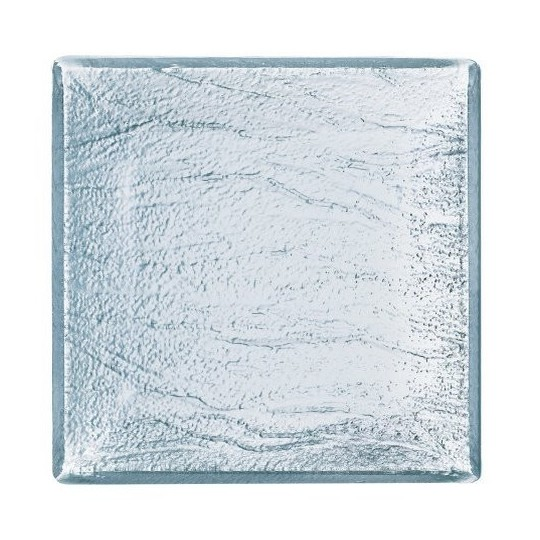 Assiette en verre carrée Minerali 25cm.