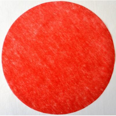 Set de table rond intissé rouge 34 cm.