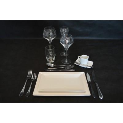 Assiette gamme stone blanche.