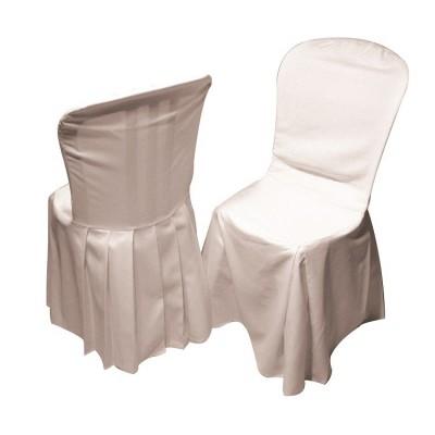 Housse de chaise blanche.