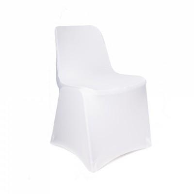 Housse de chaise en lycra blanche.