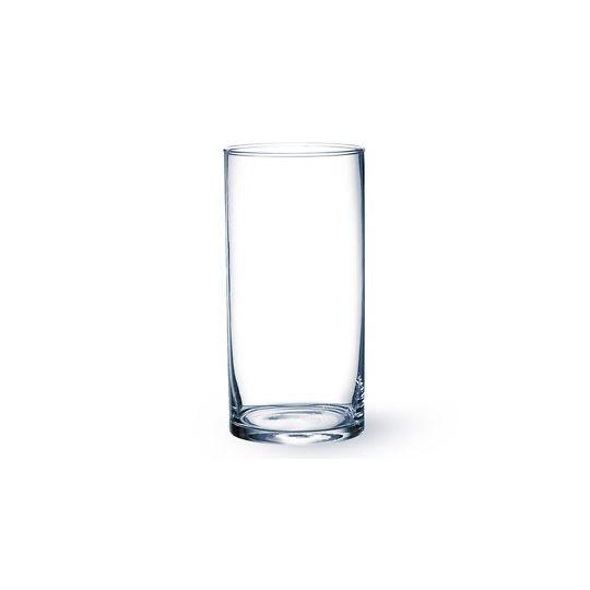 Vase tube en verre.