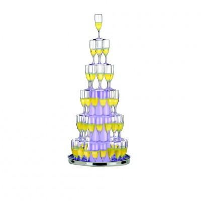 Cascade à champagne lumineuse.