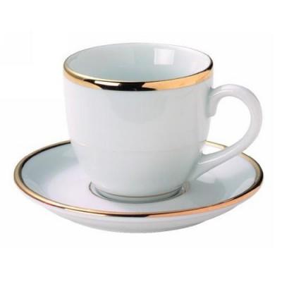 Tasse à café filet or.