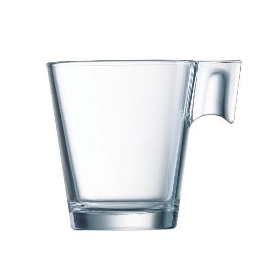 Tasse à café en verre.