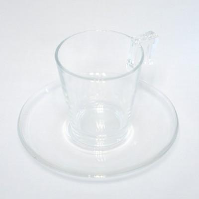 Soucoupe à café en verre.
