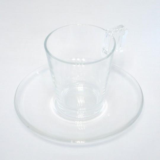 Soucoupe à thé en verre.
