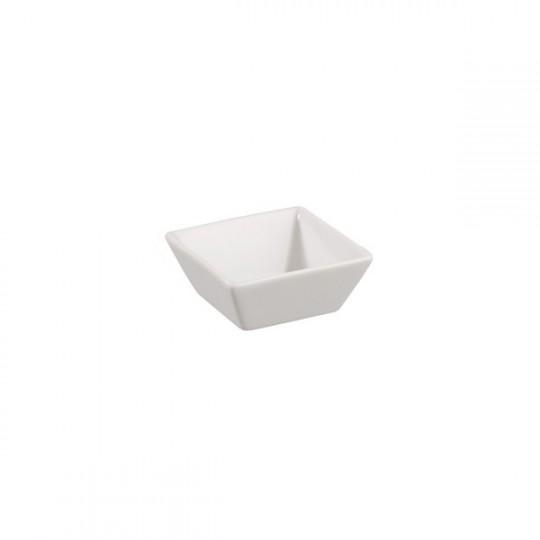 Raver creux carré en porcelaine.