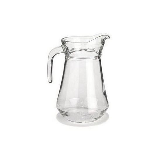 Broc à eau en verre.