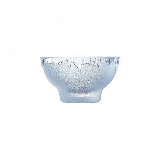 Coupelle à glace en verre, bord givré.