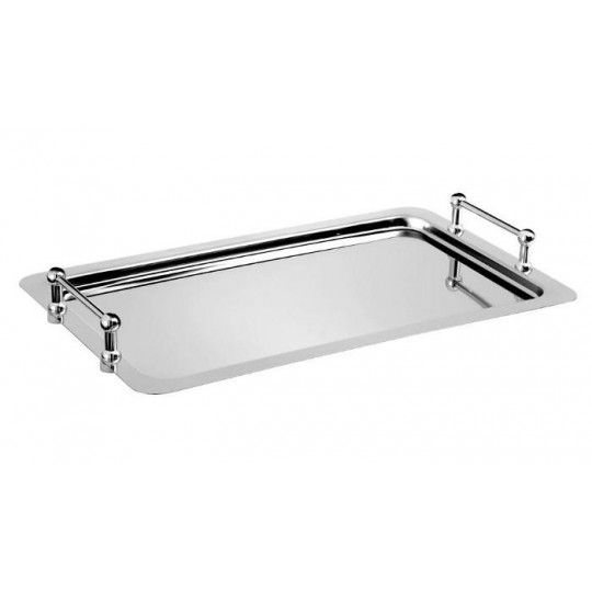 Plateau buffet empilable en inox.
