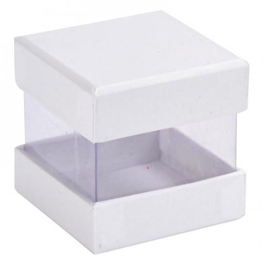 Boites à dragées cube blanc x 6