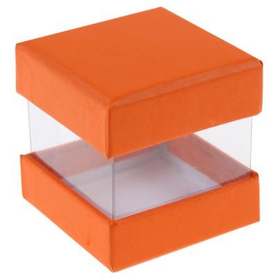 Boites à dragées cube orange x 6