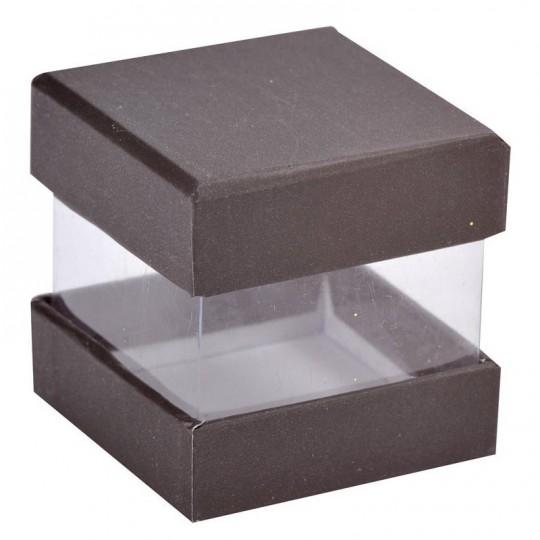 Boites à dragées cube noir x 6