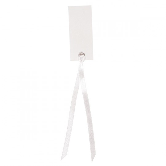 Marque place blanc rectangle avec ruban