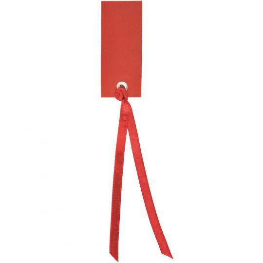 Marque place rouge rectangle avec ruban