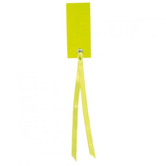 Marque place vert rectangle avec ruban