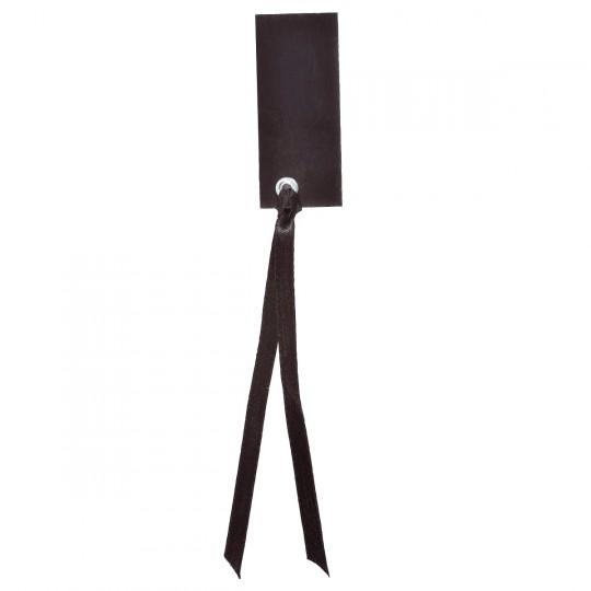 Marque place noir rectangle avec ruban