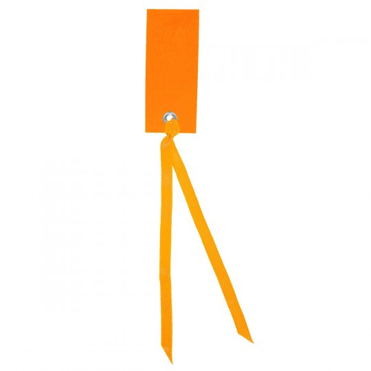 Marque place orange rectangle avec ruban
