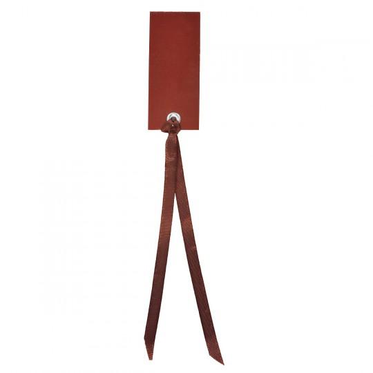 Marque place chocolat rectangle avec ruban