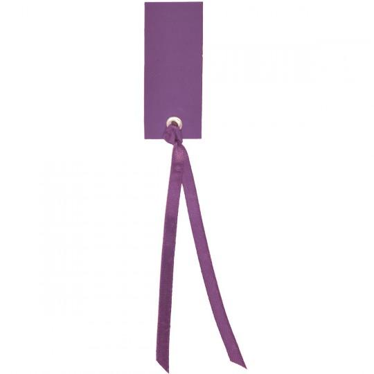 Marque place fuchsia rectangle avec ruban