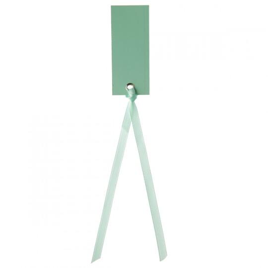 Marque place mint rectangle avec ruban