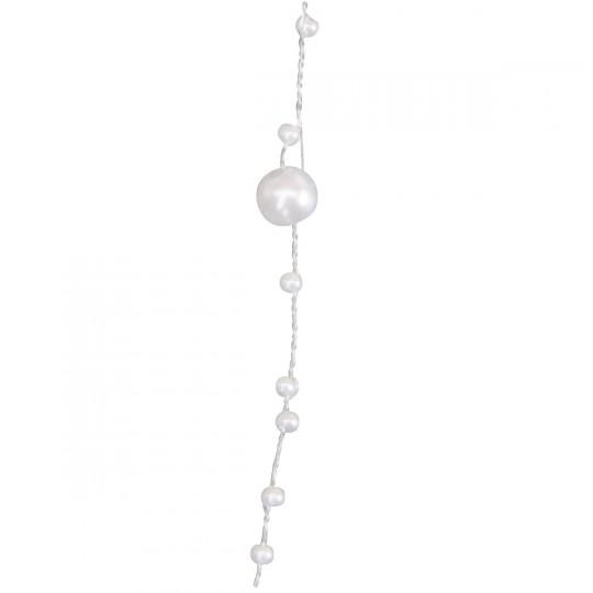 Guirlande de perles blanches 5m.