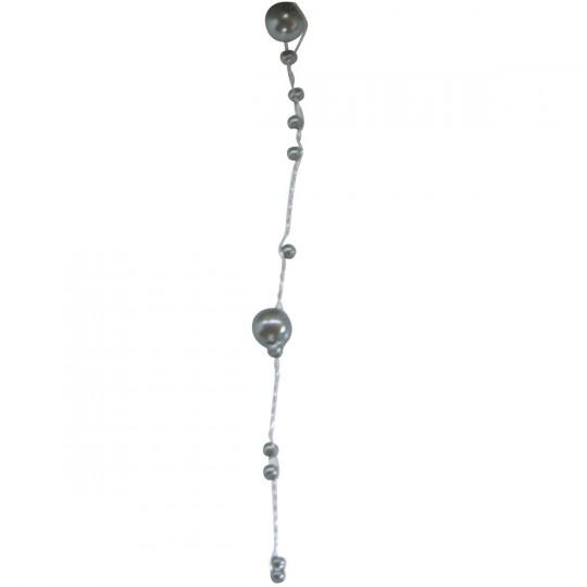 Guirlande de perles grises 5m.
