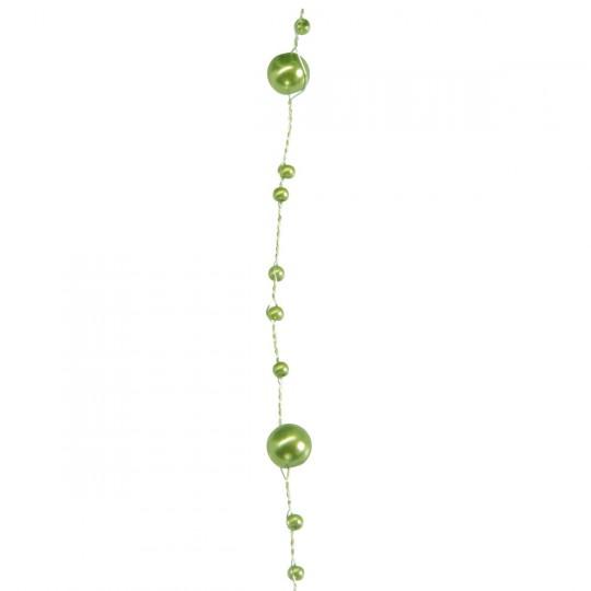 Guirlande de perles vertes 5m.
