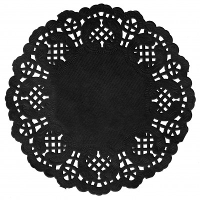 Set de table napperon dentelle noir Ø 34cm