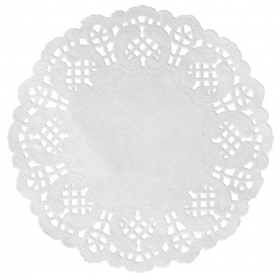 Set de table napperon dentelle blanc Ø 34cm