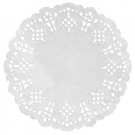 Set de table napperon dentelle blanc Ø 34cm