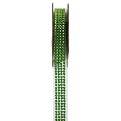 Ruban strass vert 1 mètre x 15 mm