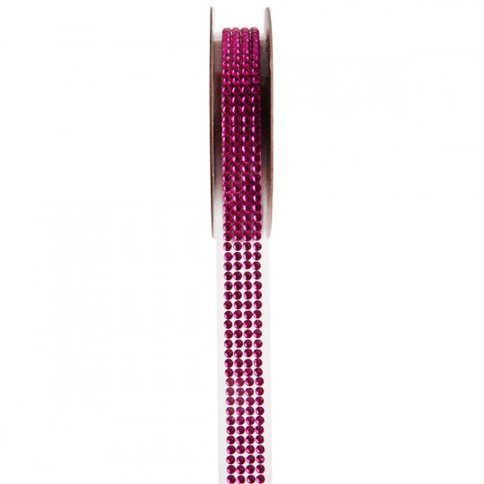 Ruban strass fuchsia 1 mètre x 15 mm
