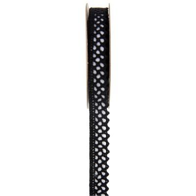 Ruban dentelle noire 3 mètres x 15 mm