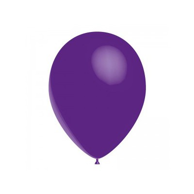 Ballon violet 28 cm sachet de 12