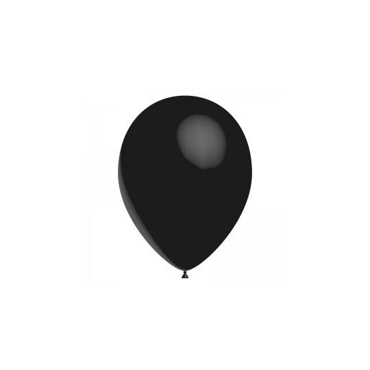 Ballon noir 28 cm sachet de 12