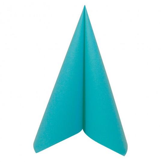 Serviette turquoise jetable
