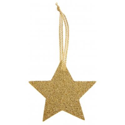 Marque place étoile or avec ruban