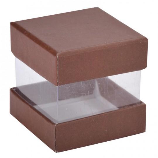 Boites à dragées cube chocolat x 6