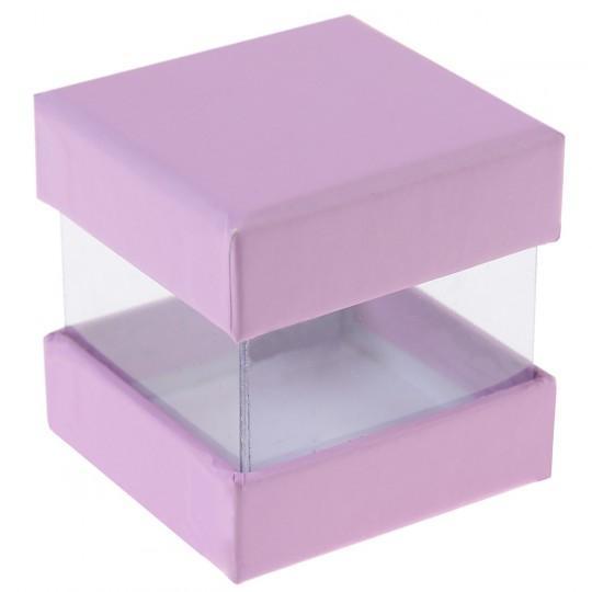 Boites à dragées cube parme x 6