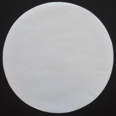 Set de table rond intissé blanc 34 cm.