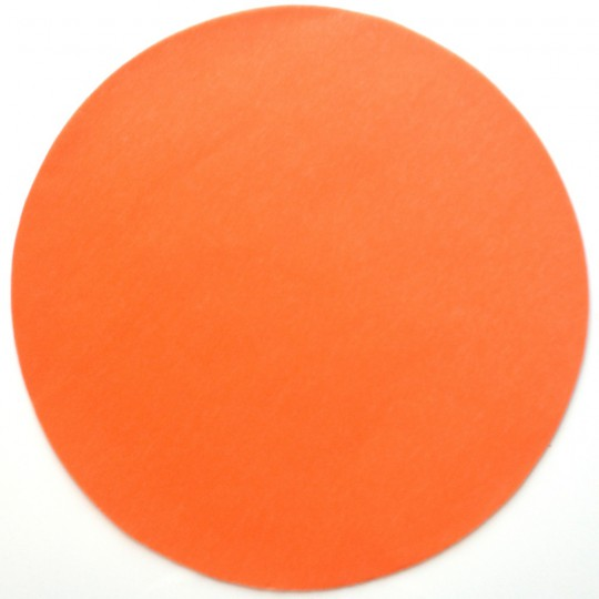 Set de table rond intissé orange 34 cm.
